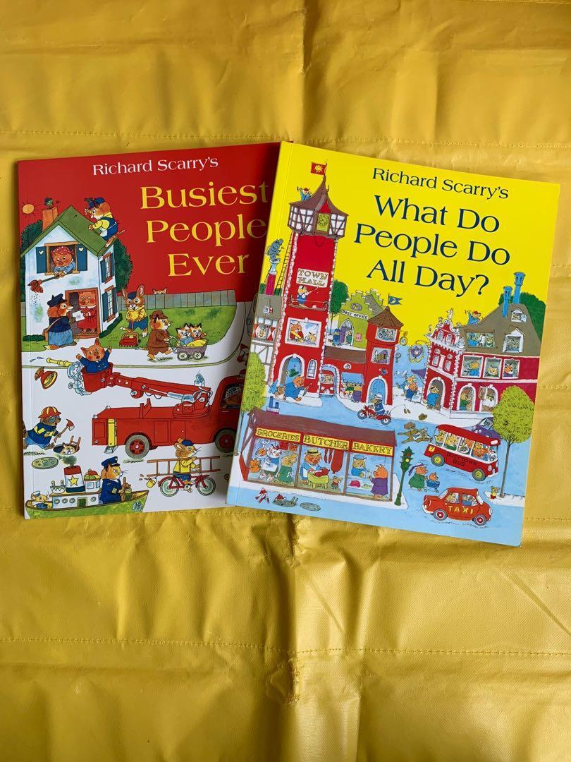 Richard Scarry 經典繪本 童書 busy town 十本