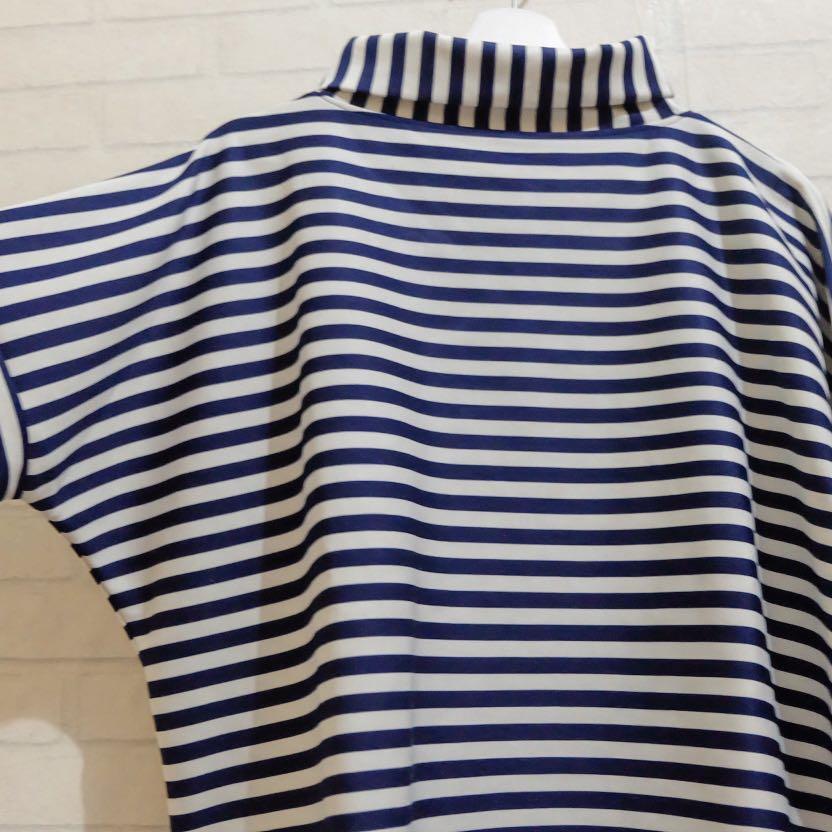 Stripe Oversized Turtleneck #BAPAU