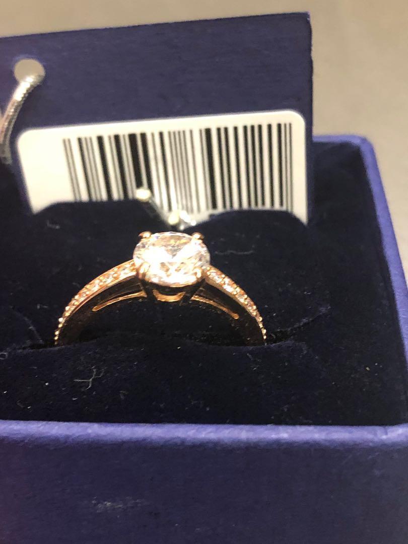 Swaroski Rose Gold Crystal Ring