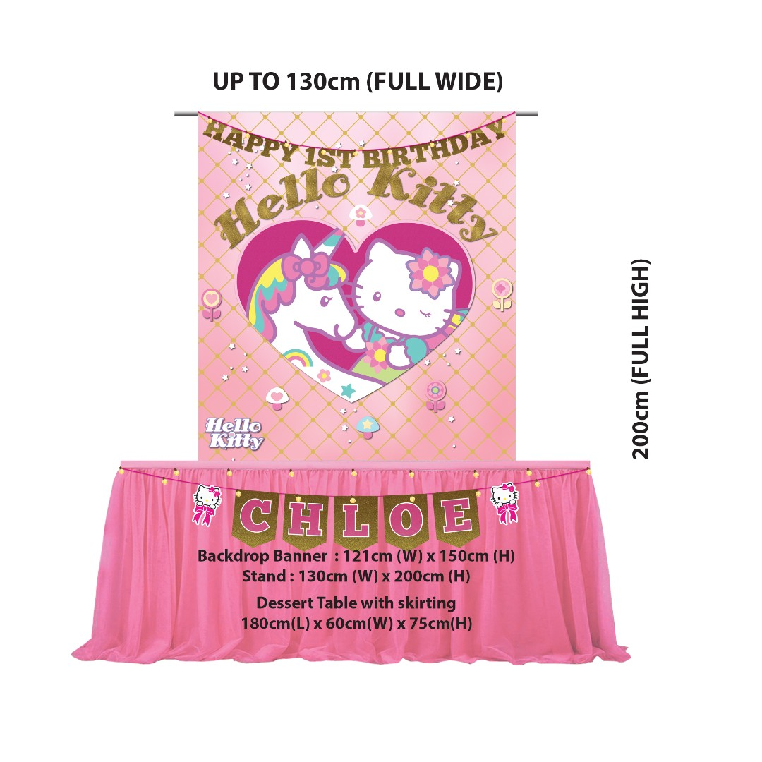 5df515ed0 Unicorn Hello-Kitty Theme Party Decoration For Rent from $63.80, Books &  Stationery, Stationery on Carousell