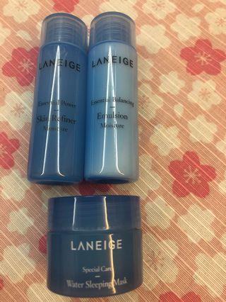 Laneige Skincare Travel size
