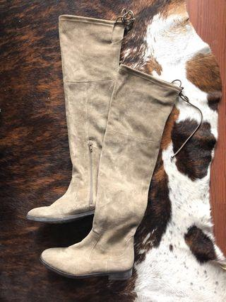 Aldo Suede over the knee Boots Size 7