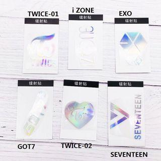 KPOP BTS TWICE BLACKPINK IZ*ONE SEVENTEEN EXO Laser Sticker