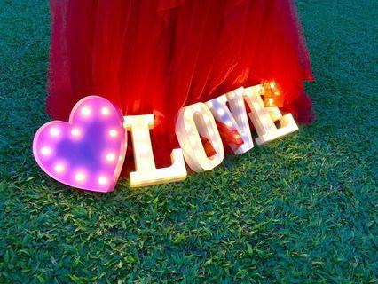 LOVE ♥️ led signs for wedding/rom/photoshoot