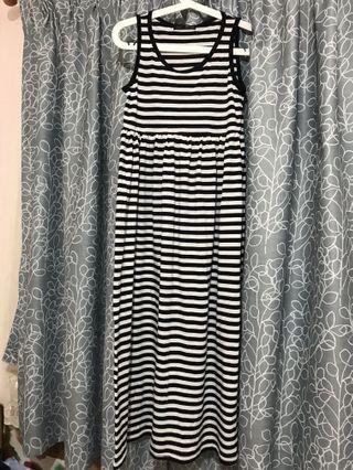 間條長身裙