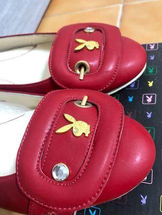 🚚 PlayBoy平底紅色娃娃鞋