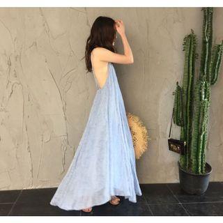 🚚 度假洋裝 水藍