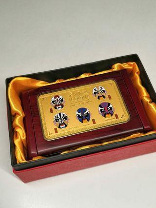 面譜木盒含999純金