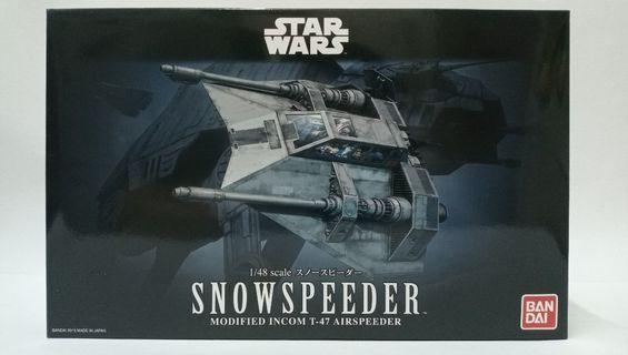 Star Wars 星球大戰 Snow Speeder 1/48 Scale Plastic Model Kit Bandai#MTRssp