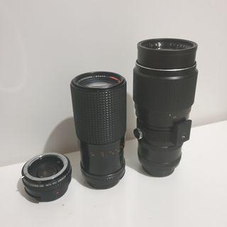 Telephoto manual lenses for Nikon Mount and tele converter