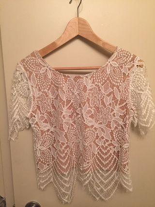 Lace top - xs
