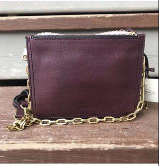 Fossil Campbell crossbody in fig