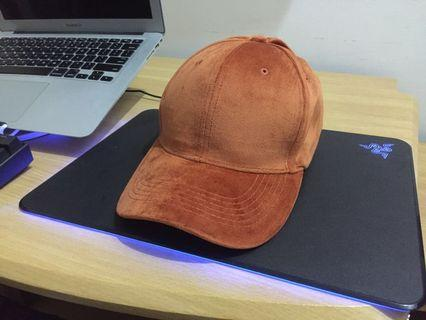#BAPAU Topi Orange Velvet