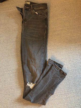 Top shop grey jeans