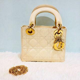 正品 Lady Dior Patent Mini