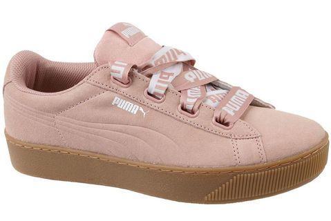 Puma Vikky Platform Sneakers Suede Pink