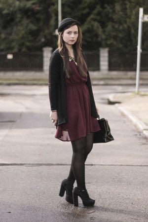H&M Maroon Dress