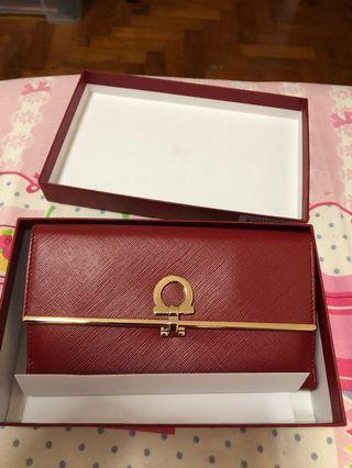 BNIB NEW Salvatore Ferragamo Red Clutch bag. Free gift wrapping.