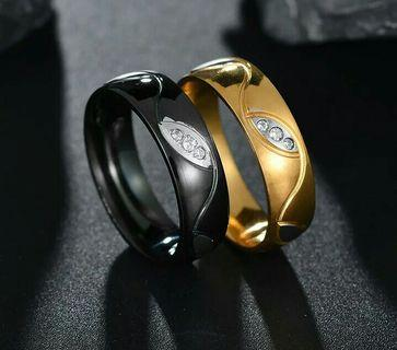 Cincin Couple model ring Black