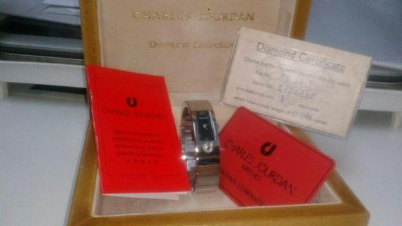 Charles Jourdan diamond bangle watch