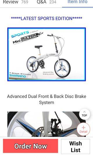 Mini razer sports version foldable bike