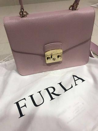 Furla bag Metropolis top handled camellia