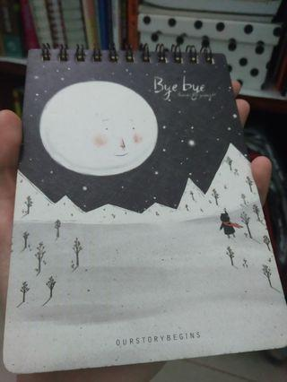 Our Story Begins Ring Rulled Notebook ukuran A6