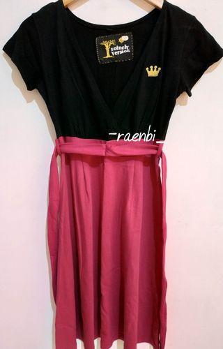 Dress pink black