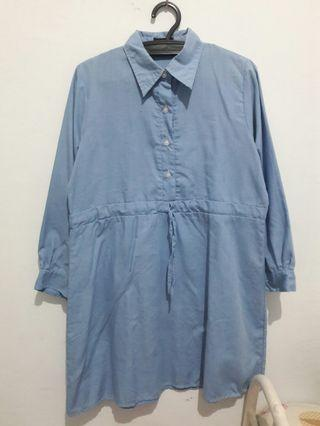 Midi dress (tunik biru)