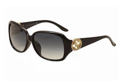 Gucci Authentic Rhinestones Black Sunglasses