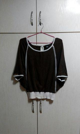 Playlord Dark brown knitted top