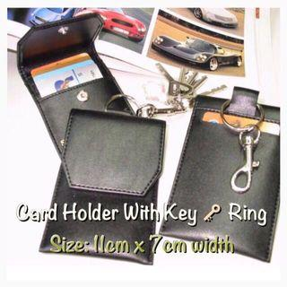 Card holder with Key Ring/Artificial Leather/Free Local Normal Mail for 2 pieces and above