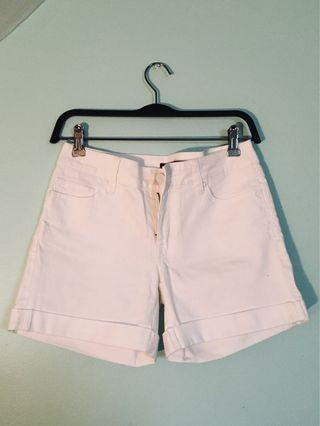 High Waisted Or Midrise White Shorts