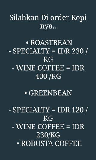 Kopi Gayo Roasted & Green bean Original From Aceh