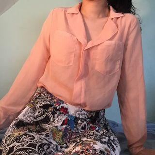 Mesh Pink Long Sleeve