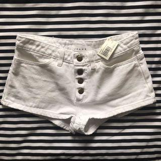 White American Apparel shorts