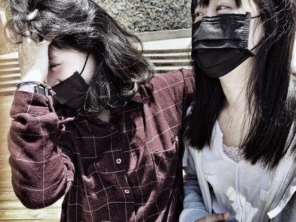 網美必備✨MIT製造三層口罩📣黑色/兒童粉