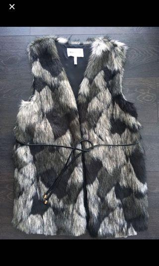 BCBG fur vest - brand new