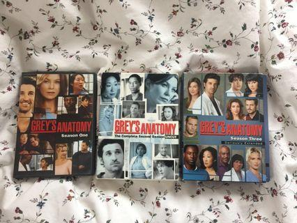 Grey's Anatomy DVDs Season 1-3
