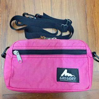 Gregory,Vintage,Logo,Pink,Padded,Shoulder,Pouch,Bag,2L,Small,Made in USA,America,舊版,粉紅色,細碼,方形設計,側背袋,單肩袋,斜背包,小袋,美國製造