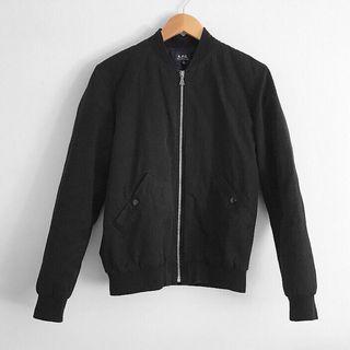APC Men's black bomber jacket