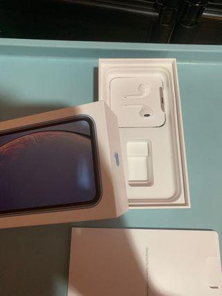 🚚 蘋果 iPhone XR正原廠耳機 充電孔 扁頭  只有一個