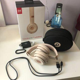 Beats Solo 3 Wireless Headphones in Satin or Matte Gold