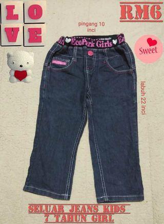 Seluar jeans kids 7 tahun