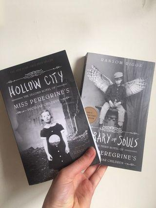 First 2 books of the 'Miss Peregrine's' series