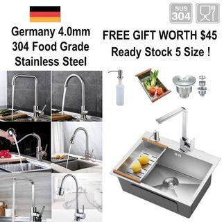 🇩🇪4mm Thick 304 Stainless Steel Kitchen Sink