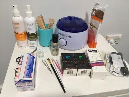 Waxing, tinting and brow henna kit