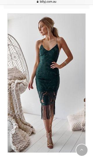 Khalessi emerald dress size 8