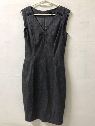 Warehouse Sheath Grey Dress