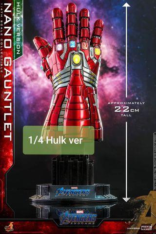 SOLD OUT Hot Toys 1/4 Hulk Version Nano Gauntlet Avengers Endgame ACS009
